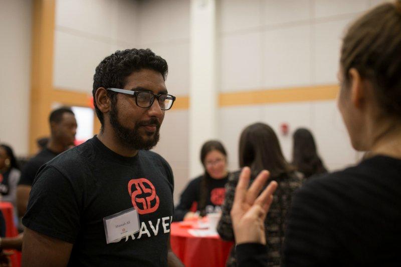 Mussab at the Hackathon