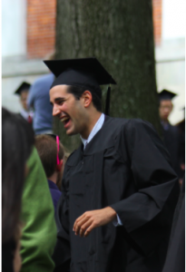 Daniel Alter at Amherst's college graduation in May 2013