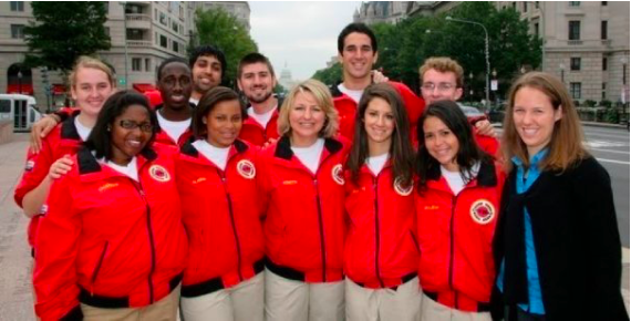Daniel Alter and others at the City Year opening day in September 2009