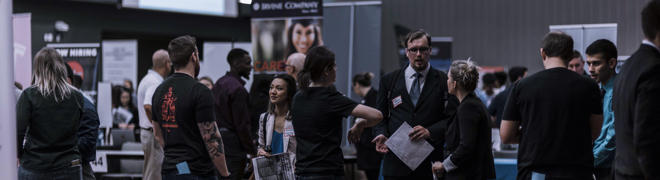 Career fair at San Jose State University