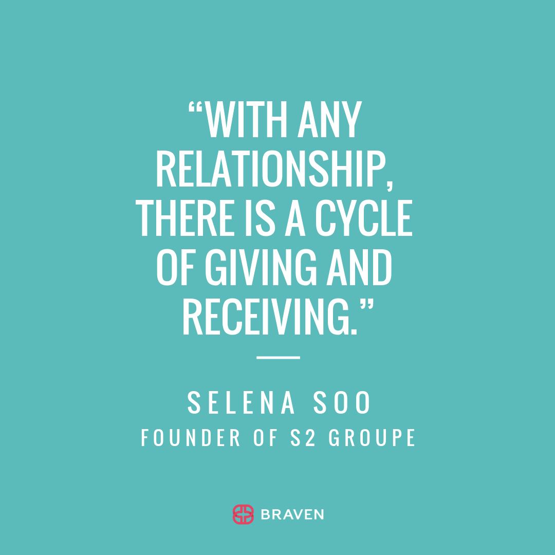 """With any relationship, there is a cycle of giving and receiving"""