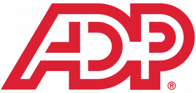ADP logo red graphic on transparent background