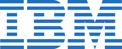 IBM logo blue graphic on transparent background