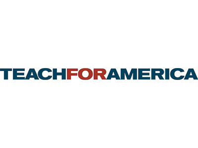 Teach For America national logo blue and red graphic on transparent background