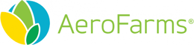 Aerofarms logo in full color with green text on transparent background