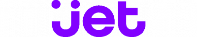 Jet.com logo blue graphic with black text on transparent background