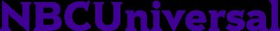 NBC Universal logo blue graphic on transparent background