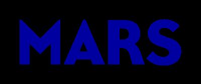 Mars logo in dark blue sans serif font