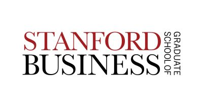 Stanford GSB logo in red and black serif font