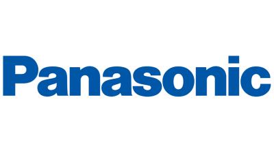 Panasonic logo in blue sans serif font